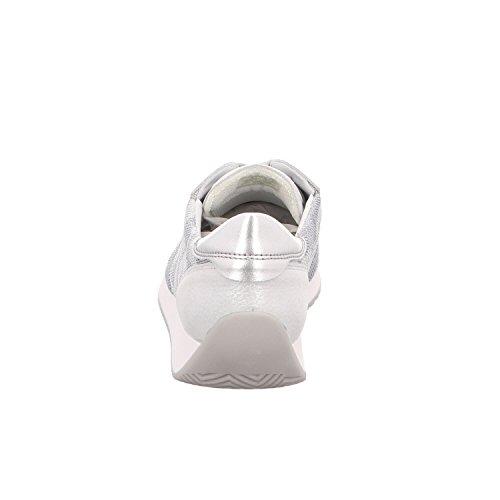 Fusion camu Weiß Ara Derby silber silber Argent Lissabon Bianco OqxwwH