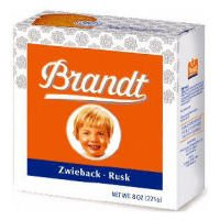 Brandt Zwieback Rusk Toast - 8 oz - Lemon Cheesecake Baked