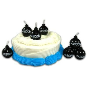 Amazon Set Of 6 KABOOM Novelty Birthday Candles Home Kitchen