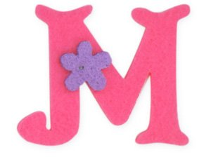 Pink Felt Alphabet Letters iron on, 25mm motif, Girl ...