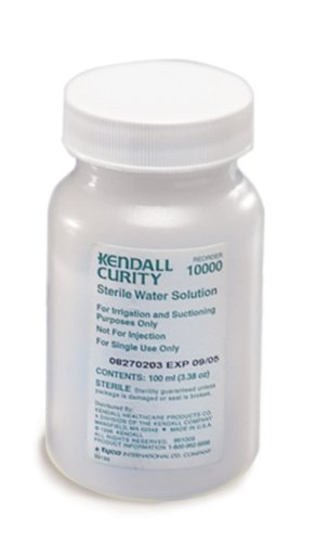 Sterile Water Bottles - Sterile Irrigating Solutions by Kendall ( WATER, STERILE, 100 ML, BOTTLE, 6/PK ) 48 Each / Case