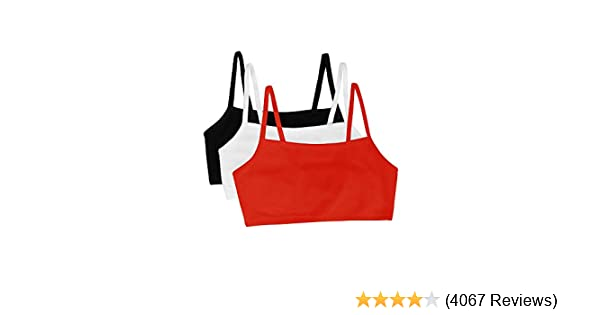 2219040ae2765 Fruit of the Loom Women s Cotton Pullover Sport Bra(Pack of 3) at Amazon  Women s Clothing store  Sports Bras
