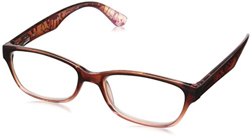 Foster Grant Women's Carlee PolarizedRoundReaders , Brown - Brown Round In