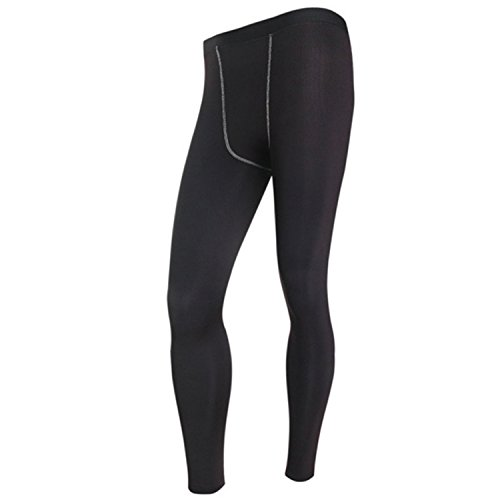 Vazpue Pants Men's Long Thermal Base Layer Tights Pants Evolution Plush Warm Underwear Slim Trouses H5 BlackM (Evolution Motorcycle Pants)