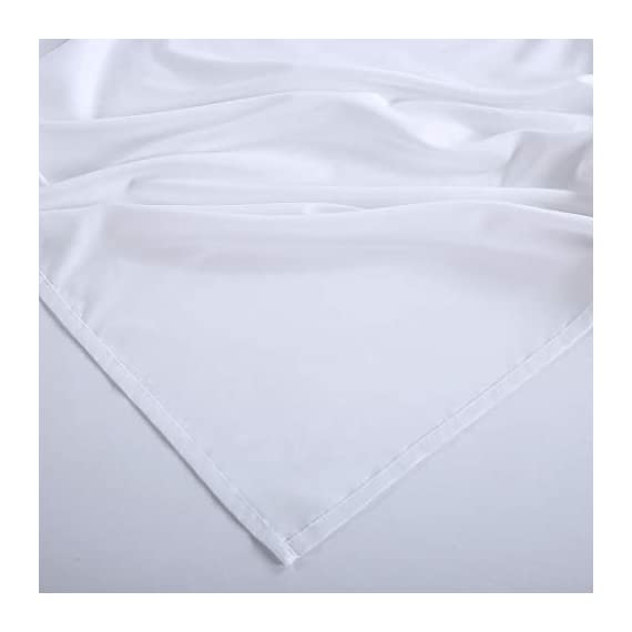 """KARRISM Queen Size 6 Piece Bed Sheets Set Extra Soft & Breathable Brushed 1800 Series Microfiber, Cooling, Wrinkle & Fade Resistant, Comfortable Deep Pocket Bedding Set, White - ►►►【NEW 1800TC MATERIALS】Designed with simple sophistication, combined with BST Brushed Microfiber, the new 1800 High Thread Count materials are even thinner than most luxurious natural fibers such as silk. This makes the bedding more softer, breathable, comfortable that keep you warm during winter and cool during summer. Light touching feeling , DEFINTLY breathable cool and exceptional strength, gives you and your family the BSBEST Sleep environment all night. ►►►【CUSTOMER CENTERED DESIGN】Compared to the normal 4-piece bed sheet set, our 6 Piece Sheet set includes 1 flat sheet 90""""x102"""", 1 fitted sheet 60""""x80"""", and 4 pillowcases 20""""x30"""". Considering that our customer may have needs on regularly cleaning old pillowcase or readying for the guest room,we added two extra pillowcases for your money SAVING. No worry of alternative pillowcase being not available again. ►►►【FITTED SHEET STYLE】Easily stretch up to 13-16inch. With Exquisite deep pocket design, stretch skirt has a thick, 130GSM full-length elastic pulls the corners snugly for a smooth fit on most mattress types, the sheet will keep neat all the time, will not change the position of mattress. - sheet-sets, bedroom-sheets-comforters, bedroom - 31sLRyGbW L. SS570  -"""