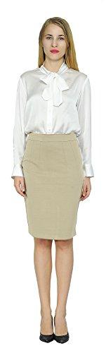Tan Womens Skirt (Marycrafts Women's Work Office Business Pencil Skirt L Tan)