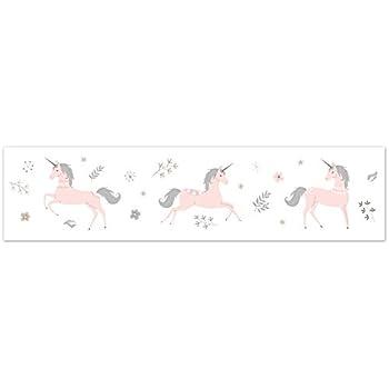 Wallpaper Border Magic Unicorn Pearlized Pink Lavender