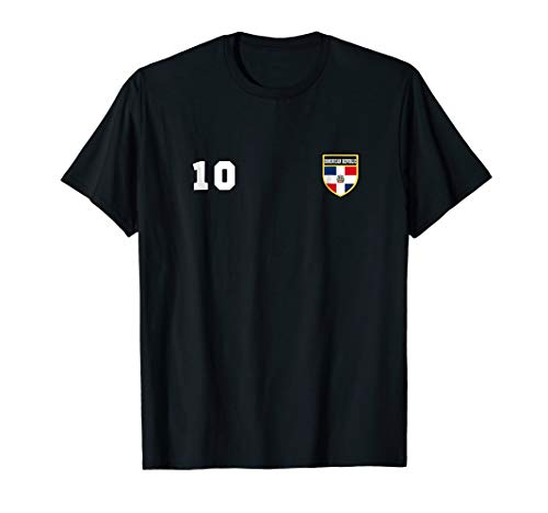- Dominican Republic T-shirt Number 10 Soccer Flag Football