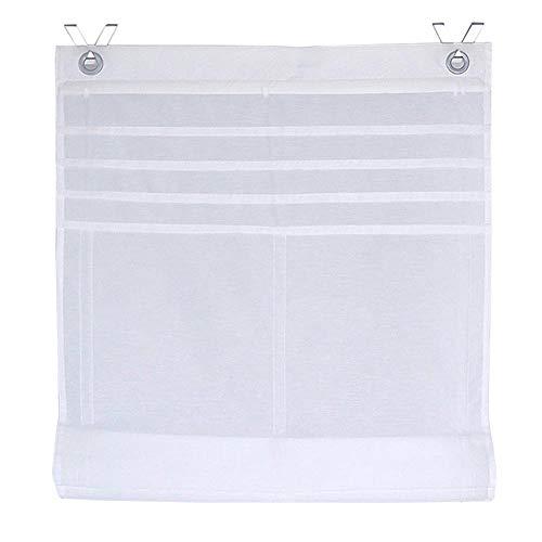 (86 York Tab Top Sheer Voile Roman Shade Kitchen Balcony Drape Curtain 1 Panel 47