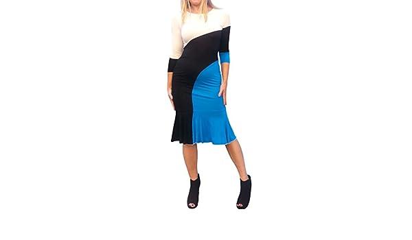 Maya Antonia Super Elegant Black-White Polka-dots Midi Dress