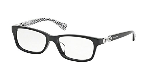 Coach HC6052F Fannie (F) Eyeglasses 5214 Black/Black White Sig C 54 16 140 (52 16 140 Brille)