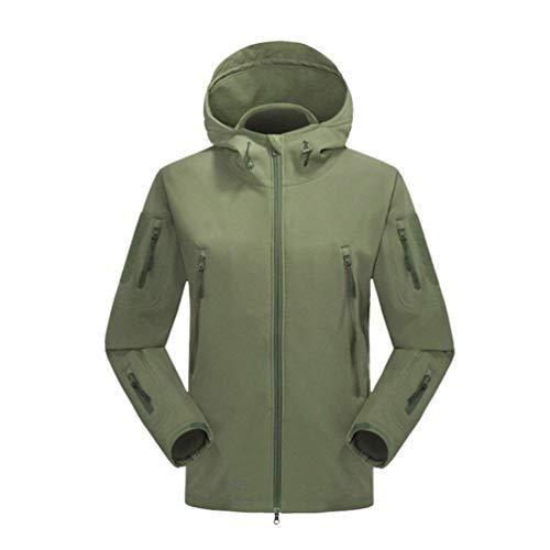 X avec Couleur Vert en matelassée Taille et poches pour Zhrui imperméable Blousons l'hiver Softshell hommes molleton petit Veste voyage de capuche pour clair 1XTxg