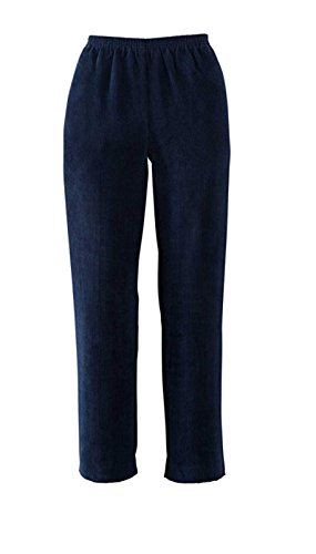 - Alfred Dunner Women's Classic Short Length Cord Pant (Dark Navy, 16 Short)
