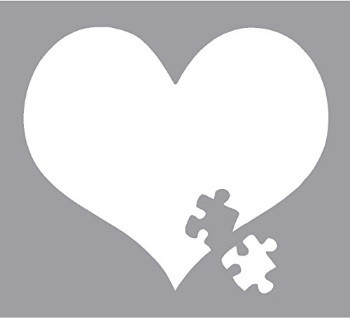 Autism Awareness Heart Puzzle Car Window Vinyl Decal Sticker 4