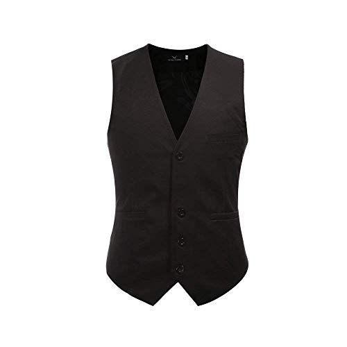 Vintage Herringbone Business Designer Fit Slim 1 Uomo Style Casual Smoking Gilet Mens Giovane Sposa Da Saoye Fashion Schwarz qwxBII