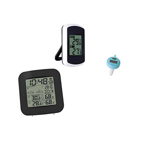 MonkeyJack Digital Wireless Weather Station Forecast+Floa...