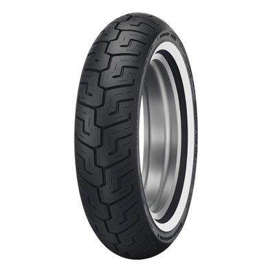 Dunlop D401 Rear Motorcycle Tire 150/80B-16 (71H) Medium White Wall for Harley-Davidson Softail Heritage Classic FLSTC 2004-2006