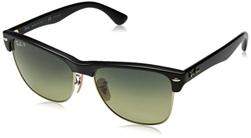 Ray-Ban Men's Clubmaster Oversized Polarized Square Sunglasses, Demigloss Black, 57 - Clubmaster Ban Amazon Ray Eyeglasses