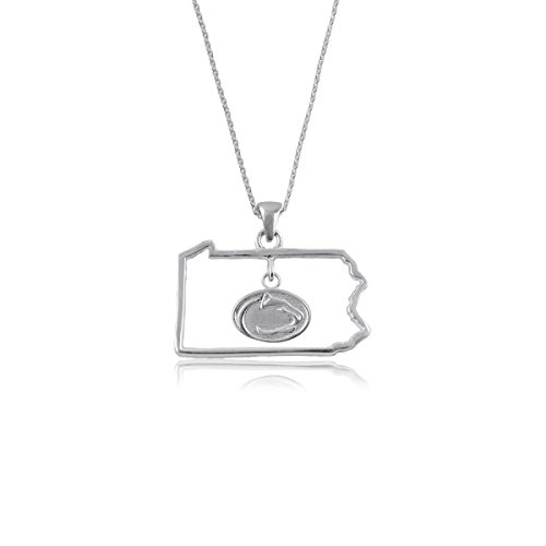 Penn State Jewelry Nittany Lions PSU Sterling Silver Jewelry by Dayna Designs (State Outline Necklace - Nittany (Penn State Jewelry)