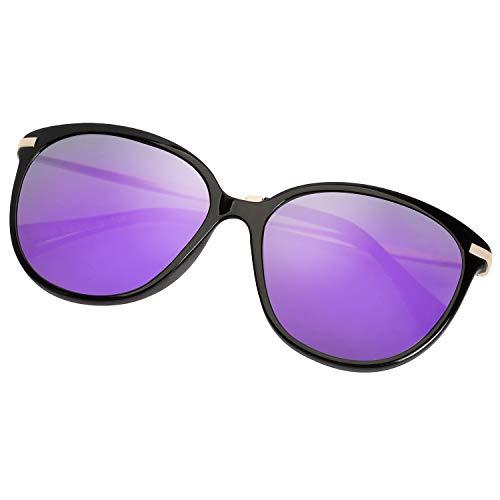 Diamond Candy Blenders Eyewear Purple Polarized Mirrored Sunglasses Vintage Sun Glasses For Women
