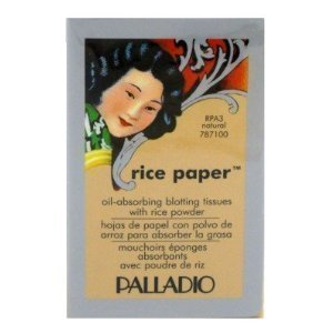 Oil Blotting Rice Paper Blots - Palladio Rice Paper Tissues Natural (Pack of 6) by Palladio