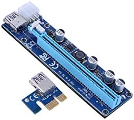 60CM USB3.0 PCI-E VER008C 1x to 16x Extender Riser Card Adapter Powered Cable