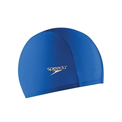 Speedo Lycra Solid Swim Cap, Blue, One Size