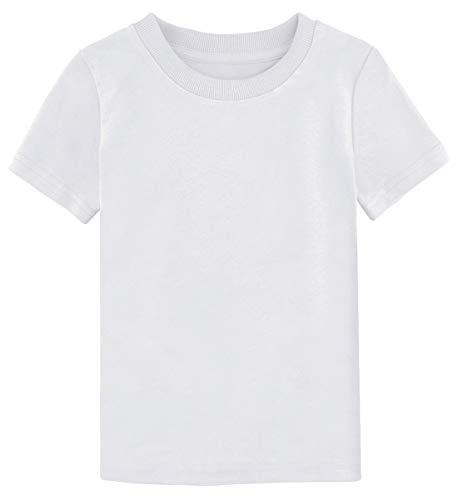 - A&J DESIGN Infant Boys' Short Sleeve Cotton Thick T-Shirt (White, 12 Months)