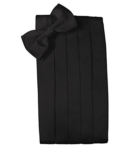 Men%27s+Formal+Satin+Bowtie+and+Cummerbund+Set+-+Black%2C+By+S.H+Churchill