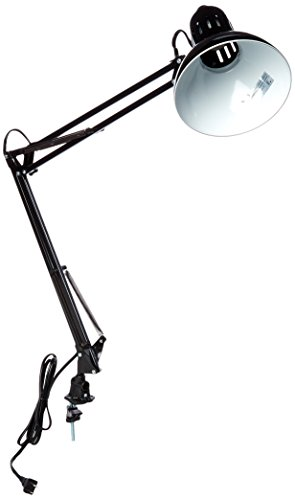 - Lite Source LS-105BLK Desk Lamp with Black Metal Shades, 15