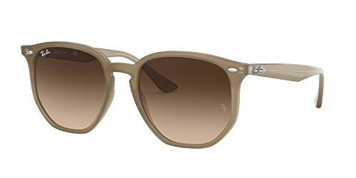 Ray Ban Hexagonal 54 - Ray-Ban RB4306 Hexagonal Sunglasses Rectangular, Opal