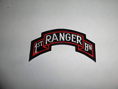 Military Patch SEW ON Scroll TAB 1ST Ranger BN Colored Approx 3 INCHES ()