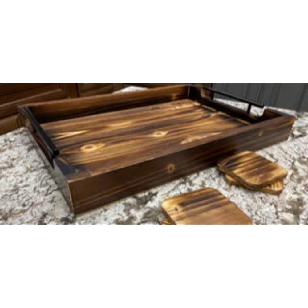 """Ottomans Large Tray With Handles - 20""""x14"""" Coffee Table ..."""