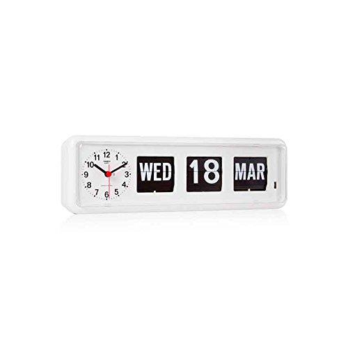 TWEMCO トゥエンコ デジタルカレンダークロック パタパタ時計 置き掛け兼用bq-38WH B01MFAMYSG