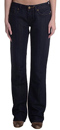 MEK Denim Voyage Collection Women's Reno Flap Pocket Jeans, Dark Wash, 27