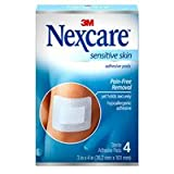 Nexcare Sensitive Skin Adhesive Pads 4 ea (Pack of 2)
