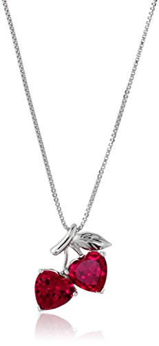 Sterling Silver Created Pendant Necklace