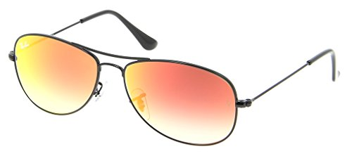 Ray Ban RB3362 002/4W 59 Shiny Black/Red Mirror Gradient Bundle-2 - Cockpit Ban Ray Black