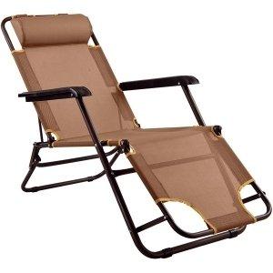 Folding Garden Lounger Recliner Chair. Sun Lounging Patio Reclining Deck  Chair