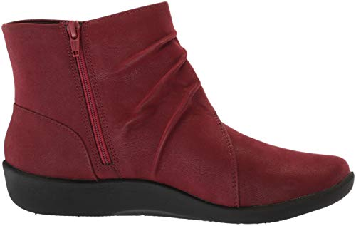 Nubuck Boot Synthetic CLARKS Sillian Women's Burgundy Fashion Tana wW0BZq