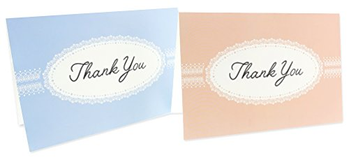 48 Pack Thank You Greeting Cards 6 Pastel Lace Greeting Cards Assortment Includes Corresponding Greeting Card Envelopes 4 x 6 inches Photo #3