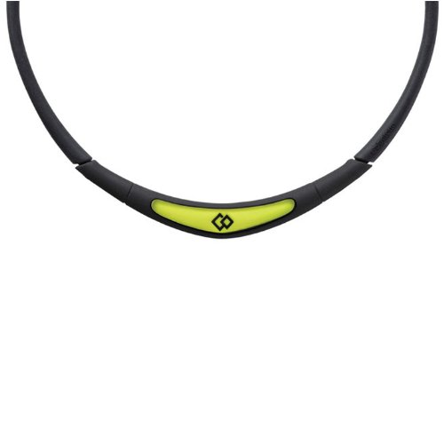 Trion:Z Colantotte Flex Neck Magnetic Necklace (Black/Yellow, Small)