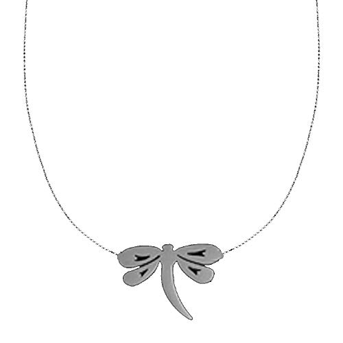 Luccaful Stainless Steel Pendant Necklace Chain Jewelry for Womens Choker Female Best Friends Neckless Silver Vintage Dragonfly-S OneSize ()