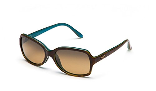 Maui Jim  Sunglasses | Cloud Break HS700-10P | Tortoise with Peacock Blue Interior Fashion Frame, Polarized HCL Bronze Lenses, with Patented PolarizedPlus2 Lens Technology (Maui Jim Driving Sunglasses)