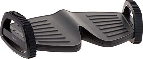 Ergonomic Rocking Foot Rest - Compact Under Desk Exerciser Footrest by Mindful Design (Black)