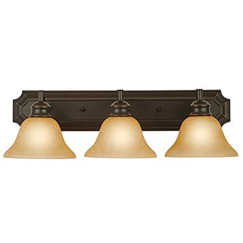 Design House 509042 Bristol 3 Light Vanity Light, Oil Rubbed Bronze