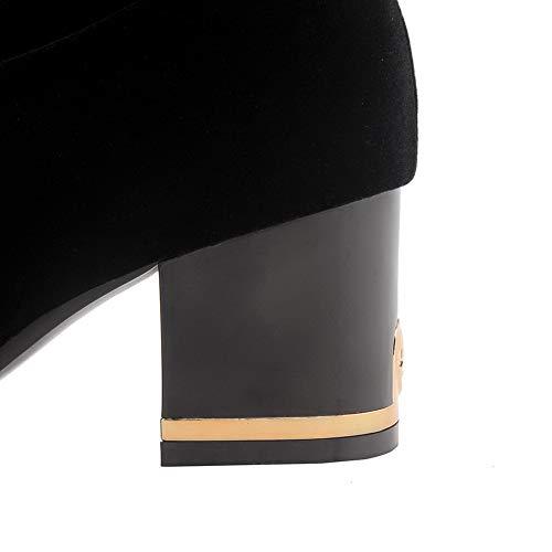 Sandalias Negro Cuña Mujer 1to9 Mns03214 Con T5vFvq1x