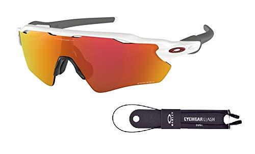 (Oakley Radar EV Path OO9208 920872 38M Polished White/Prizm Ruby Sunglasses For Men+BUNDLE with Oakley Accessory Leash Kit)
