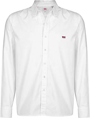 Ls Hm white Uomo Bianco Shirt Levi's Battery 0000 Camicia dwHnExd614