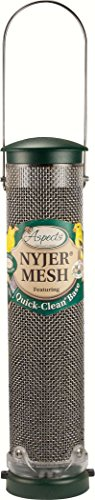 Aspects 439 Nyjer Mesh Birdfeeder with Quick-Clean Base, Spruce